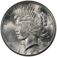 1922-S Peace Silver Dollar Coin - Brilliant Uncirculated (BU)