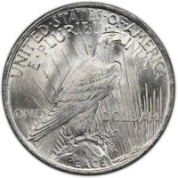 1923 Peace Silver Dollar Coin - Brilliant Uncirculated (BU)
