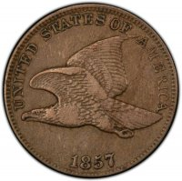 1857 Flying Eagle Cent Coin - Very Fine