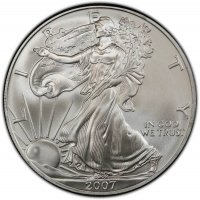 2007 1 oz American Silver Eagle Coin - Gem BU