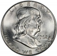 1962-D Franklin Silver Half Dollar Coin - Choice BU