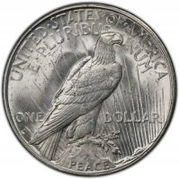 1935-S Peace Silver Dollar Coin - Brilliant Uncirculated (BU)