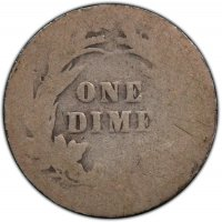 1892-1916 50-Coin 90% Silver Barber Dime Roll - Avg. Circ.