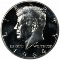 1964 90% Silver Proof Kennedy Half Dollar Coin - Choice PF