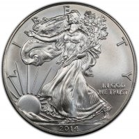 2014 1 oz American Silver Eagle Coin - Gem BU