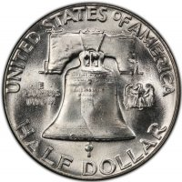 1954 Franklin Silver Half Dollar Coin - Choice BU