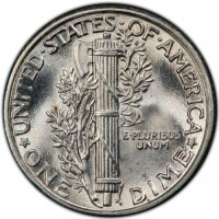1929 Mercury Silver Dime Coin - Choice BU