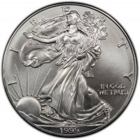 1999 1 oz American Silver Eagle Coin - Gem BU