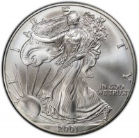 2001 1 oz American Silver Eagle Coin - Gem BU