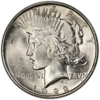 1922 Peace Silver Dollar Coin - Brilliant Uncirculated (BU)