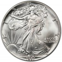 1987 1 oz American Silver Eagle Coin - Gem BU