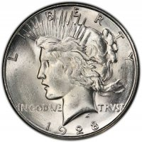 1928-S Peace Silver Dollar Coin - Brilliant Uncirculated (BU)