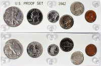 1942 U.S. Proof Set (6 Coins, New Capital Plastic Holder)