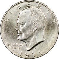 1971 Eisenhower Dollar Coin - BU