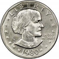 1980 Susan B. Anthony Dollar Coin - Choose Mint Mark - BU
