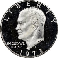 1973-S Eisenhower 40% Silver Dollar Coin - Proof