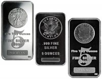5 oz Silver Bar - Varied Condition and Design