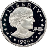1999-P Susan B. Anthony Proof Dollar Coin - Choice PF - Low Mintage