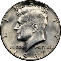 1967 40% Silver Kennedy Half Dollar Coin - Choice BU