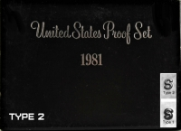 1981 U.S. Proof Coin Set (Type 2 Dollar)