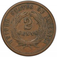 1864 or 1865 Two Cent Pieces from the Civil War - Fine to Very Fine