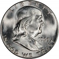 1963 Franklin Silver Half Dollar Coin - Choice BU