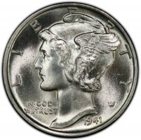 1941 Mercury Silver Dime Coin - Choice BU