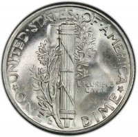 1942-D Mercury Silver Dime Coin - Choice BU