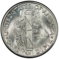 1944-D Mercury Silver Dime Coin - Choice BU