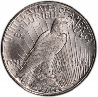 1927-S Peace Silver Dollar Coin - Brilliant Uncirculated (BU)