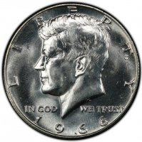 1966 40% Silver Kennedy Half Dollar Coin - Choice BU