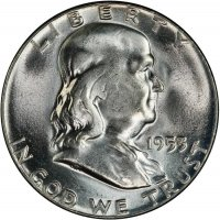 1953 Franklin Silver Half Dollar Coin - Choice BU