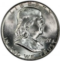 1957 Franklin Silver Half Dollar Coin - Choice BU
