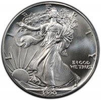1990 1 oz American Silver Eagle Coin - Gem BU