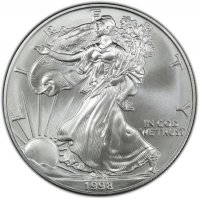 1998 1 oz American Silver Eagle Coin - Gem BU