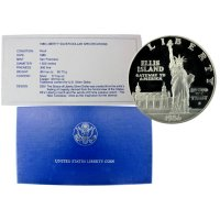 1986 Statue of Liberty Commemorative Silver Dollar Coin (Proof)