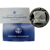 1987 Constitution Commemorative Silver Dollar Coin (Proof)