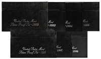 All 7 1992-1998 U.S. Silver Proof Coin Sets