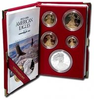 1995-W 10th Anniversary American Proof Gold and Silver Eagle Coin Set