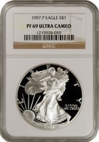 1997-P 1 oz American Proof Silver Eagle Coin - NGC PF-69 Ultra Cameo