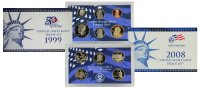All 10 1999-2008 U.S. Clad Proof Coin Sets