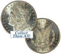 1886-S Morgan Silver Dollar Coin - BU