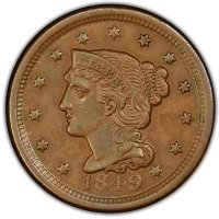 1800's U.S. Large Cent Coin - About Uncirculated