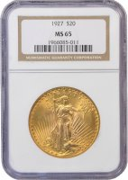 $20.00 Saint Gaudens Gold Double Eagle Coins - Random Dates - PCGS or NGC MS-65