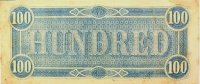 1864 $100.00 CSA Confederate Note - Fine or Better