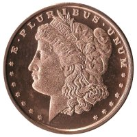 1 oz Copper Round - Morgan Dollar Design