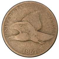 1857 Flying Eagle Cent Coin - Good