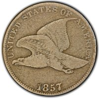 1857 Flying Eagle Cent Coin - Very Good