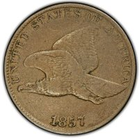 1857 Flying Eagle Cent Coin - Fine