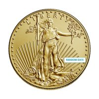 1/2 oz American Gold Eagle Coin - Random Date - Gem BU